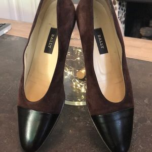 Bally Brown Delizia Vintage Spectator Shoe Sz 40